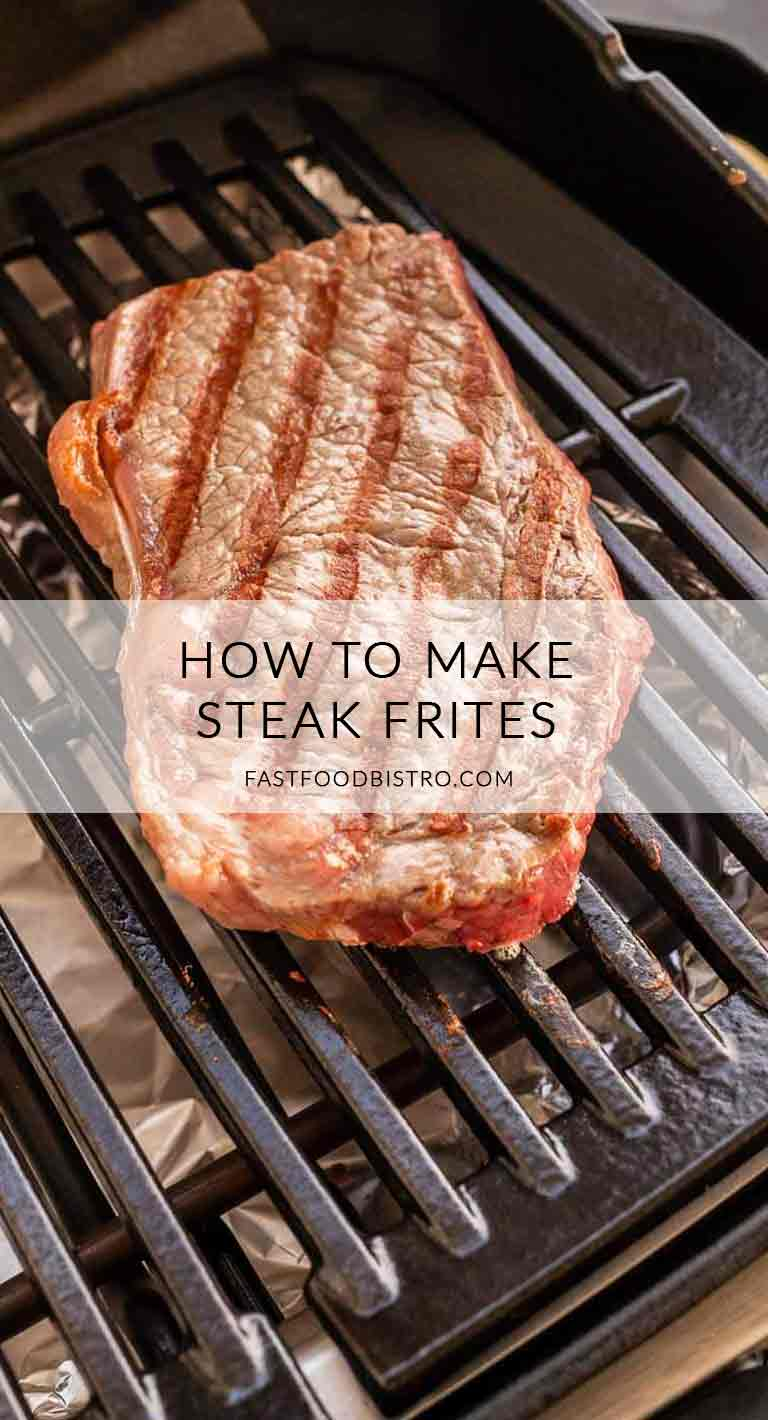 Looking for the best steak frites? Try this grilled entrecote it is just seasoning and grilling. An amazing steak serve with fries and you are done. Visit fastfoodbistro.com for the full recipe #fastfoodbistro.com #steak #steakrecipe #steakfrites #grilledsteak