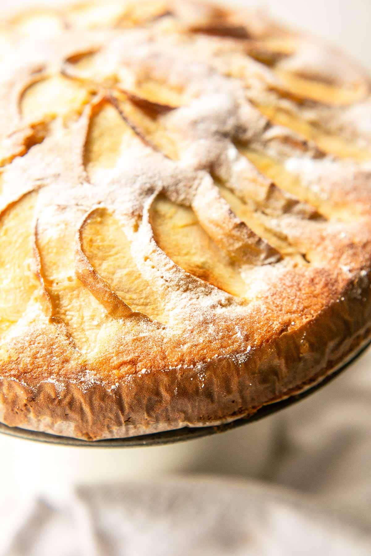 The best homemade apple cake recipe ever! Without butter but still moist, dense and delicious. Visit fastfoodbistro.com for the full recipe #fastfoodbistro #applecake #applecakerecipe #cake
