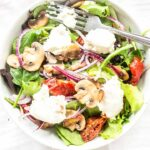 This goat cheese salad recipe is a great lunch recipe. You can also serve it as a starter or you can serve as a dinner. Want to try visit fastfoodbistro.com for the full recipe #fastfoodbistro #goatcheesesalad #saladrecipe #salad