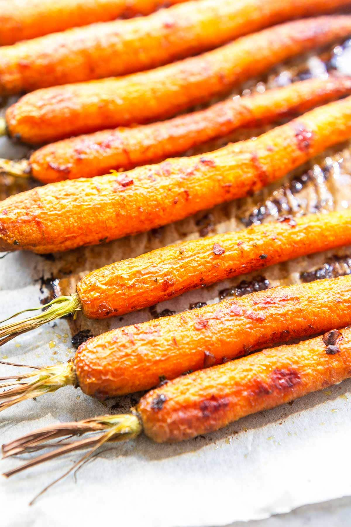Honey garlic carrots is a great side dish. Super tasty recipe that is quick and easy. Visit fastfoodbistro.com for the full recipe #fastfoodbistro #sidedish #honeygarliccarrots #carrots #vegetables