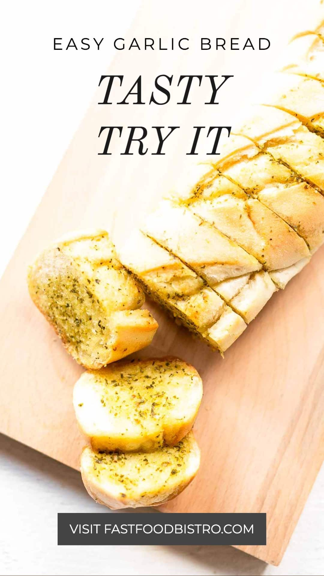 Try this quick and easy garlic bread that you can serve as a side dish or as a starter. Make with soft French baguette and pesto. Want to try visit fastfoodbistro.com for the full recipe #fastfoodbistro #garlicbread #breadrecipe #baguette #sidedish